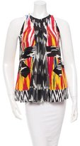 Altuzarra Resort 2016 Silk Ikat Print Top w/ Tags