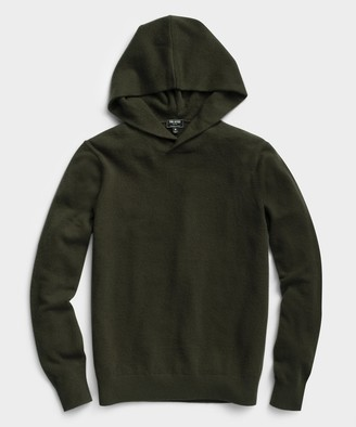 Todd Snyder Cashmere Hoodie in Olive