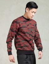 Black Scale Red Camo Crewneck Sweatshirt