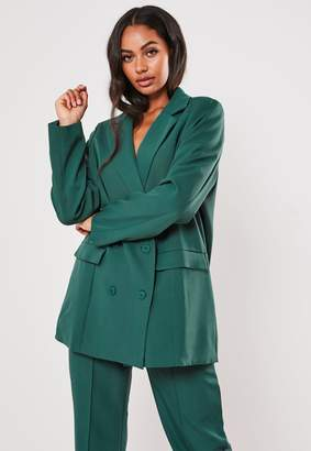 Missguided Teal Co Ord Masculine Oversized Blazer