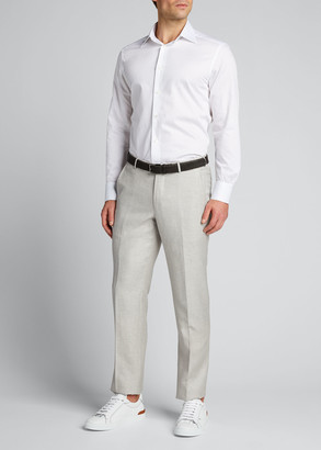 Ermenegildo Zegna Men's Cento Fili Cotton Regular-Fit Dress Shirt