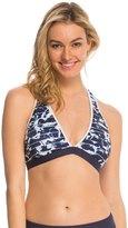 Nautica Swimwear Pacific Floral Soft Cup Sports Bra Bikini Top 8139567