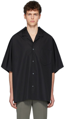 Maison Margiela Black Oversized Poplin Shirt
