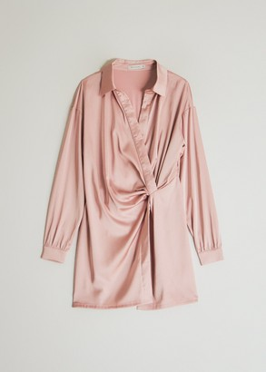 Which We Want Women's Alicia Shirt-Dress in Blush, Size Small | Spandex