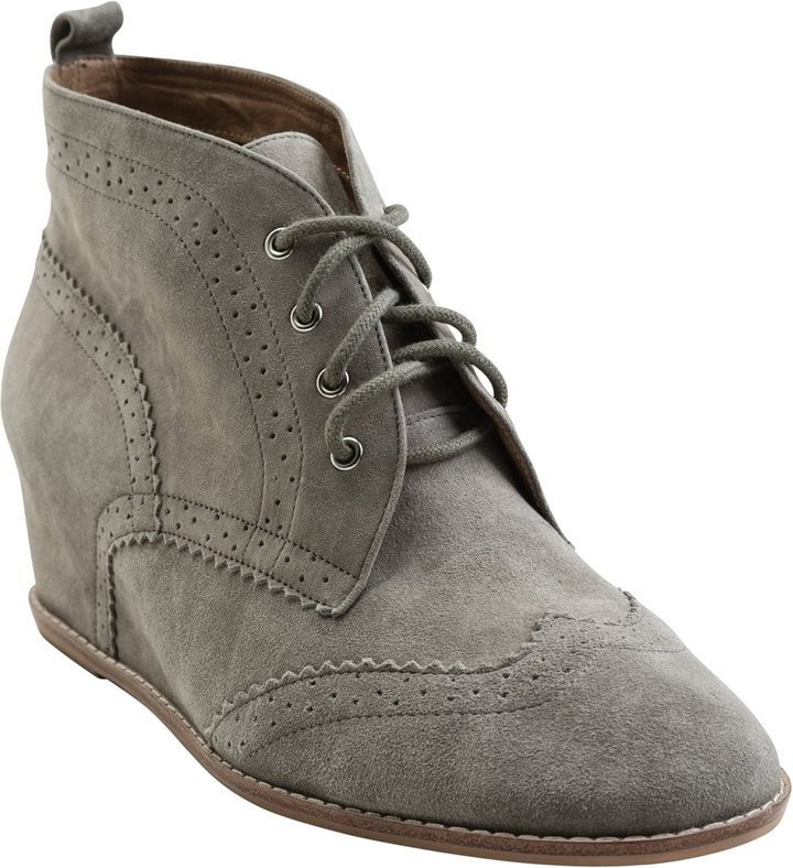 Matiko Rhea Lace Up Wedge Bootie