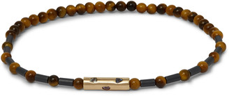 Luis Morais Bead, Sapphire And 14-karat Gold Bracelet - Brown