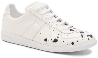 Maison Margiela Pollock Paint Splatter Grainy Leather Sneakers