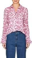 Jourden Women's Ruffle Floral Cotton Shirt