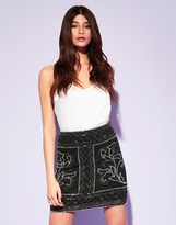 Lipsy Beaded Mini Skirt