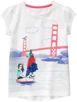 Gymboree White & Blue Girl in Sailboat Tee - Girls