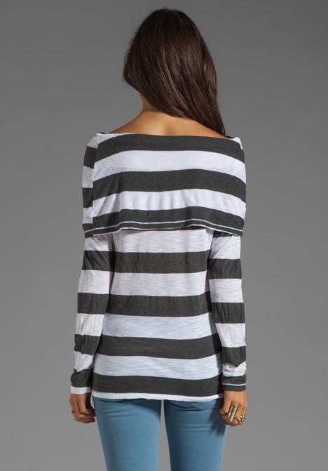 Market Charcoal Stripe Elsa Top