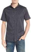 7 Diamonds Men's Rising Water Print Woven Shirt