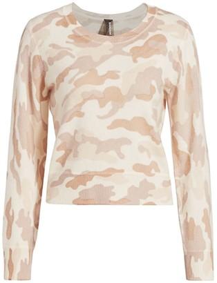 Naadam Camo Crewneck Cashmere Sweater