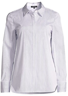Lafayette 148 New York Scottie Striped Shirt