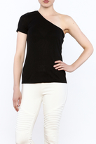 Michael Stars Black Casual Fitted Top