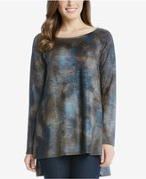 Karen Kane Printed High-Low Top