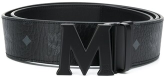 MCM logo-print M-buckle belt