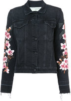 Off-White floral embroidered denim jacket