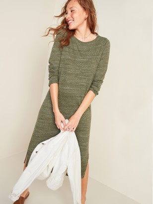 Old Navy Sweater-Knit Jersey Long-Sleeve T-Shirt Shift Dress