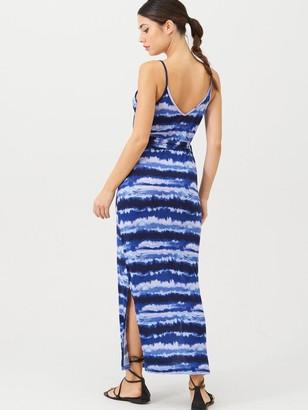 Very Strappy Belted Midi Beach Dress - Tie Dye