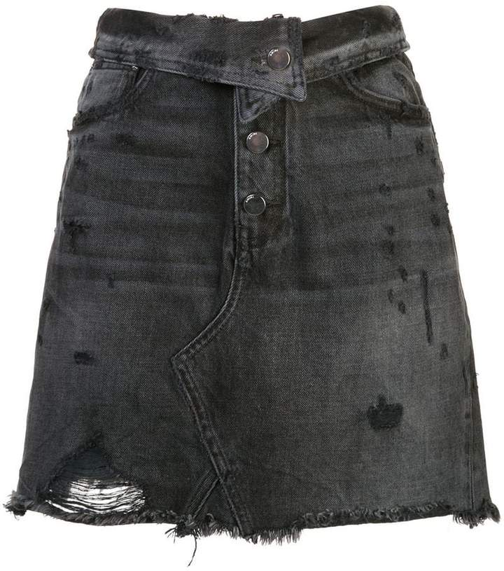 4b53147e6511 Distressed Denim Skirt - ShopStyle