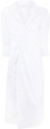 Ermanno Scervino Twist Cotton Shirt Dress