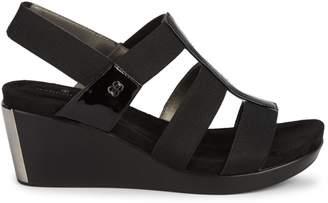 Bandolino Metallic Strap Wedge Sandals
