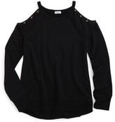 Splendid Girl's Cold Shoulder Sweatshirt