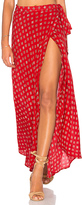 Band of Gypsies Foulard Wrap Skirt in Red. - size XS (also in )