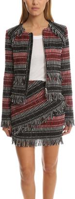 Nicholas Fringe Tweed Jacket