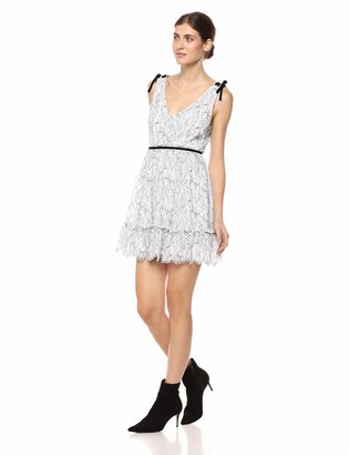 Cupcakes And Cashmere Women's Ezzy Two Tone Fit and Flare Lace Dress