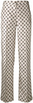 Alberto Biani geometric print trousers - women - Silk/Acetate/Viscose - 44