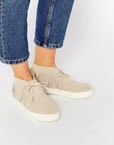 Asos DRAMA Suede Fringe Sneakers