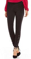 MICHAEL Michael Kors Grommet Laced Skinny Ankle Ponte Knit Pants