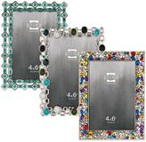 Prinz Armitage 4-Inch x 6-Inch Jeweled Picture Frame in Green/Blue/White