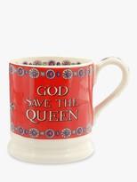 Emma Bridgewater God Save The Queen Half Pint Mug, 280ml, Red/Multi