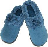 Dearfoams Women's Velour Clog Slipper with Cuff and Memory Foam, Large