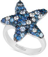 Effy EFFYandreg; Sapphire Starfish Ring (3 ct. t.w.) in Sterling Silver