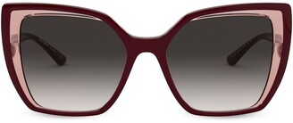 Dolce & Gabbana Eyewear Layered Cat-Eye Sunglasses