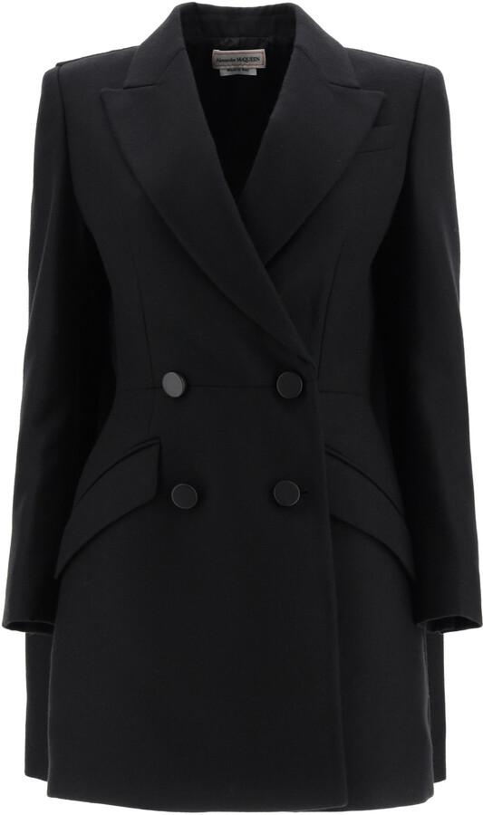Thumbnail for your product : Alexander McQueen WOOL COAT 40 Black Wool