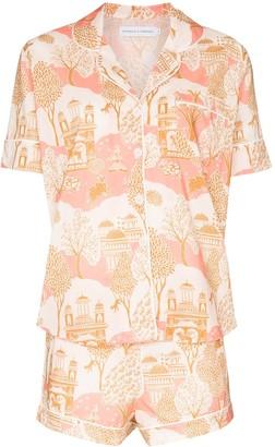 Desmond & Dempsey Pahari print pyjama set
