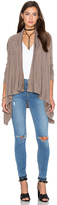Bobi Fine Woolen Jersey Long Sleeve Wrap Cardigan