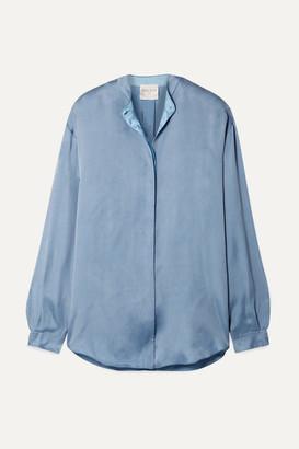 Forte Forte Washed-satin Shirt - Light blue