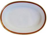 One Kings Lane Vintage Ginori Italian Gilt Porcelain Platter - The Emporium Ltd. - white/gold/cinnabar