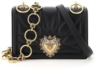 Dolce & Gabbana Devotion Quilted Nappa Mini Bag Double Shoulder Strap