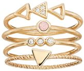 Lauren Conrad Cubic Zirconia Triangle & Circle Stackable Ring Set