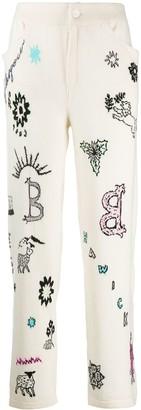Barrie Boyfriend Symbols trousers