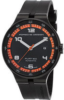 Porsche Design 6350-43-44-1254 Men's Flat 6 Automatic Black Rubber Dial and
