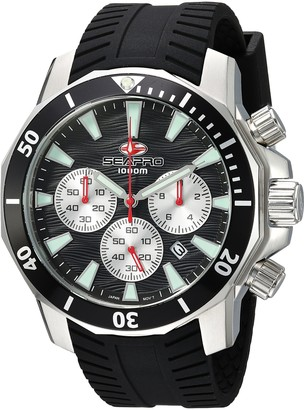 Seapro Men's Scuba Dragon Diver Limite Stainless Steel Quartz Watch with Silicone Strap