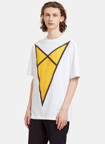 Raf Simons Men's Arrow Print T-shirt In White